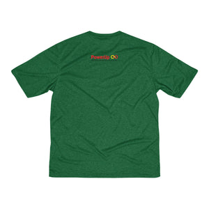 Men's PowerUp (logo back) Heather Dri-Fit Tee