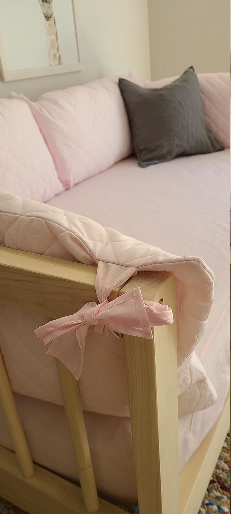 "RAILING PILLOW COVER Certified Organic Cotton ""Soft Pink"" Railing +Cover Only+"