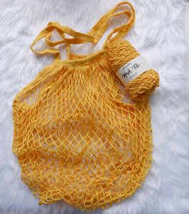 Sunflower Yellow Mesh Tote