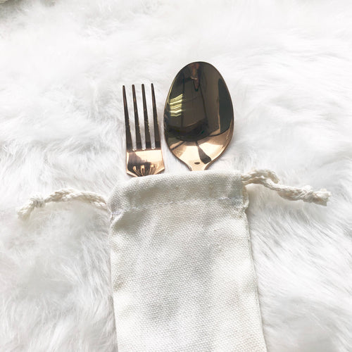 Rosegold Personal Cutlery Set