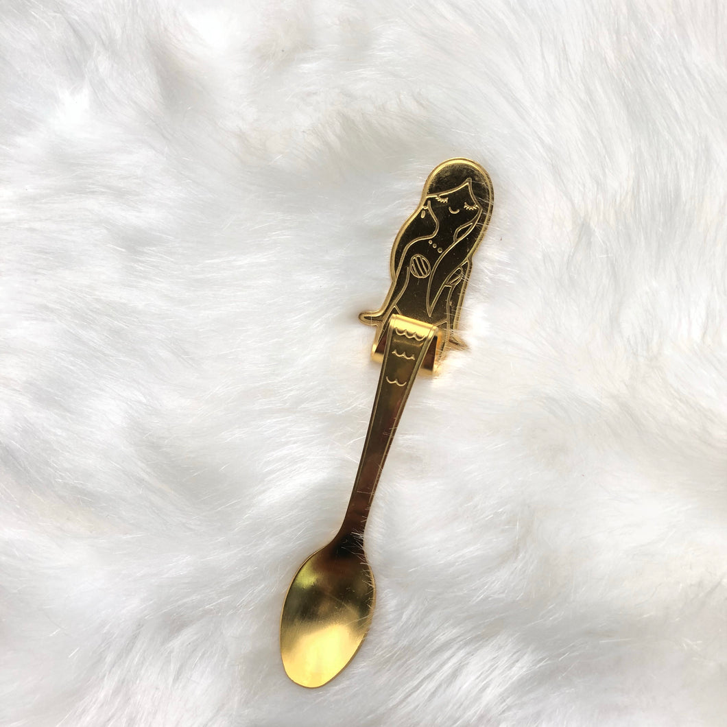 Gold Mermaid Coffee Spoon