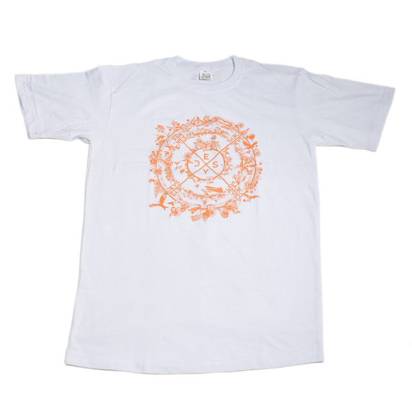Deys Flowers Perfect Fit Tee White