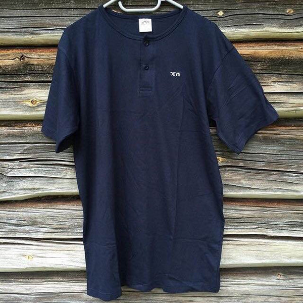 Deys 2 Button Tee Navy Blue