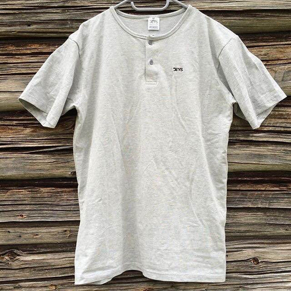 Deys 2 Button Tee Melange Grey