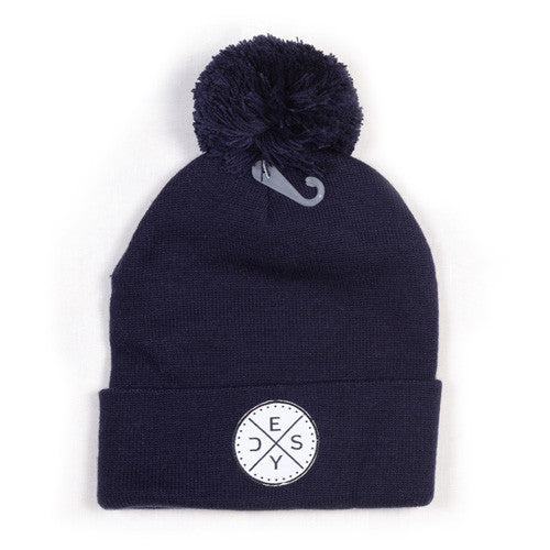Deys Perfect Fit POM Beanie Navy