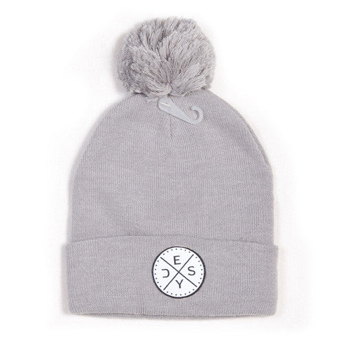 Deys Perfect Fit POM Beanie Grey