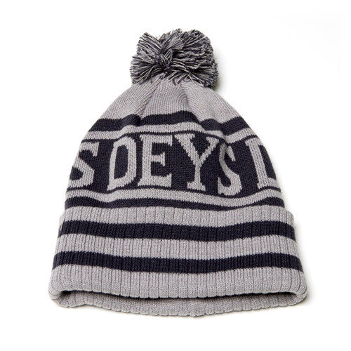 Deys Stripes Beanie Grey/Navy