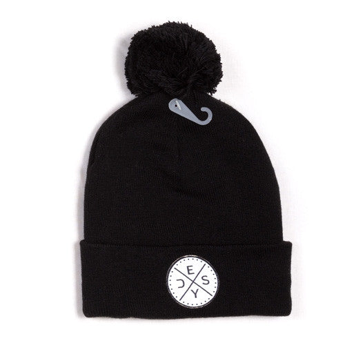 Deys Perfect Fit POM Beanie Black
