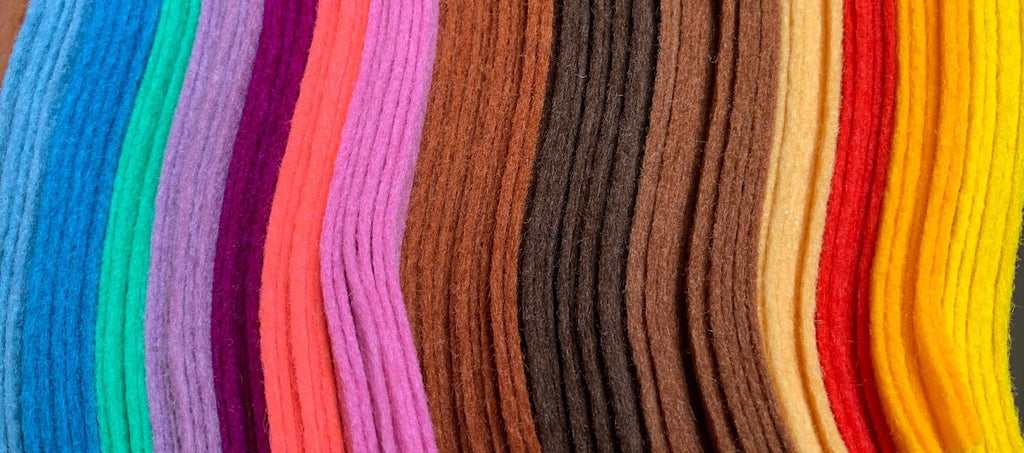 100% wool felt made in the EU in a variety of colours