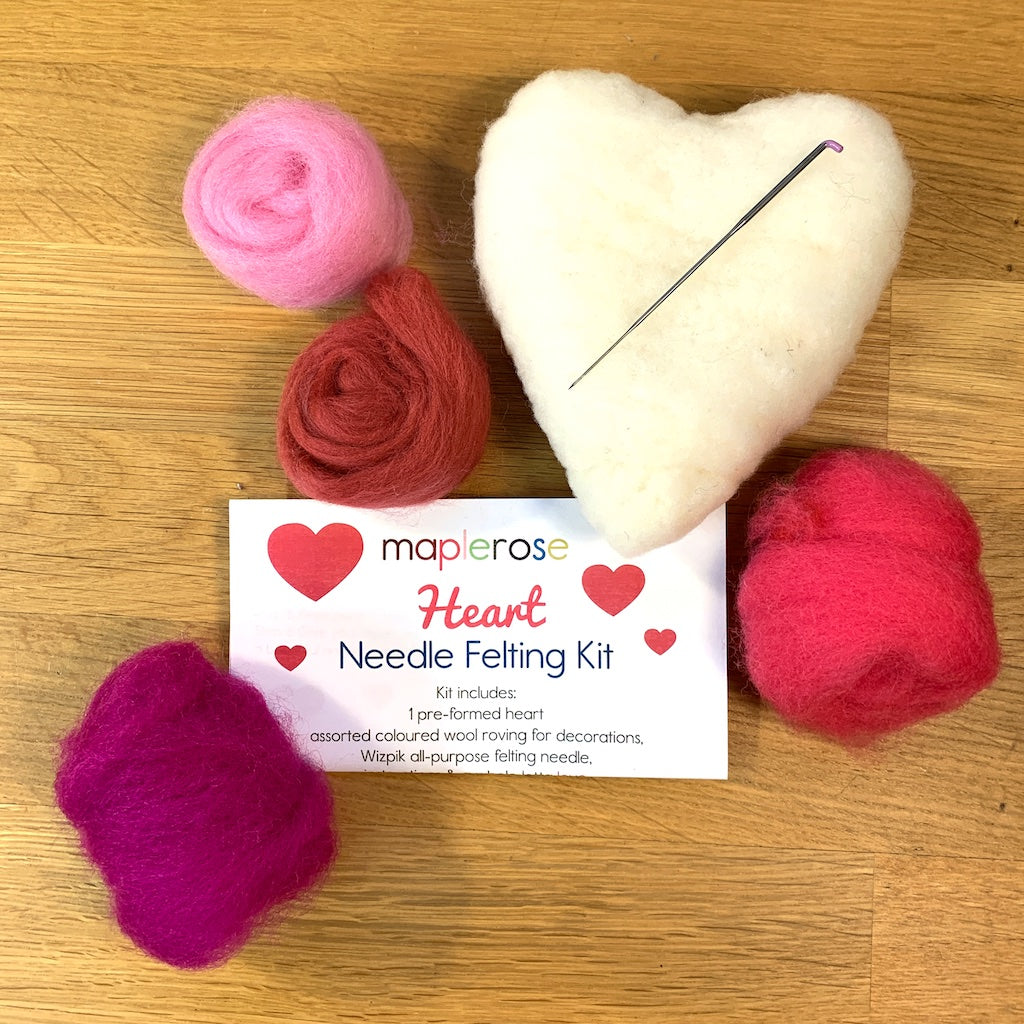 Maplerose HEART Needle Felting Kit