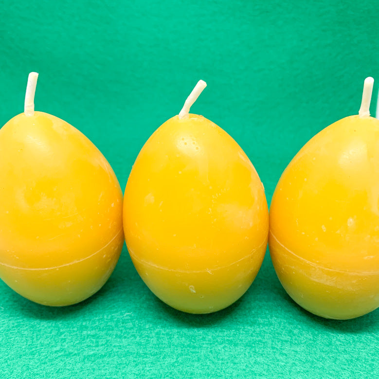 Beeswax Easter Egg Candles