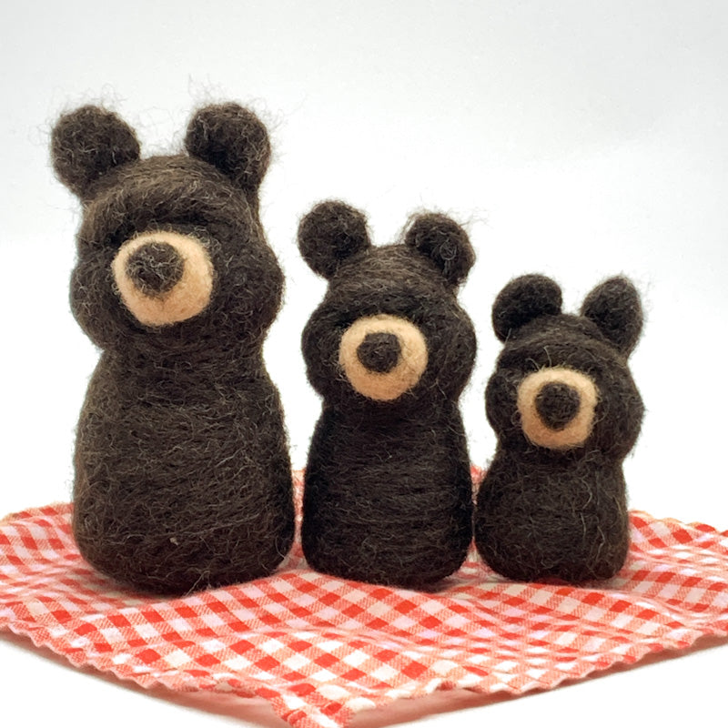 Maplerose Felted Friends THREE BEARS