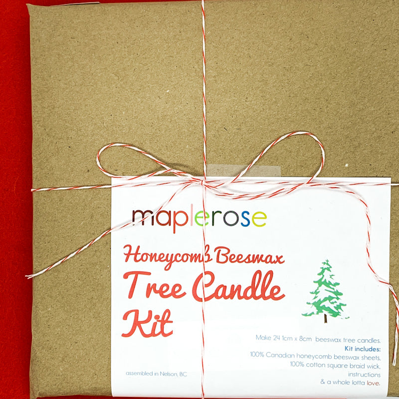 Maplerose Beeswax TREE Candle Kit