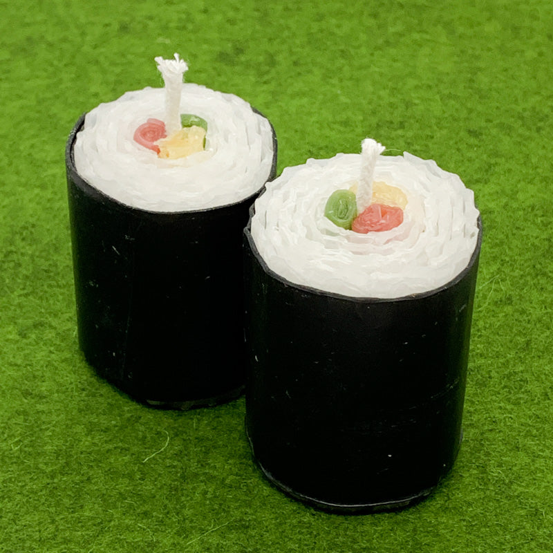 Maplerose Handmade Honeycomb Beeswax SUSHI Candles