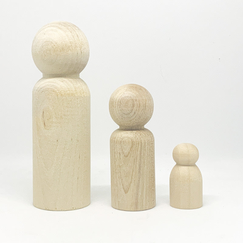 WEE ONE Wooden Peg Doll