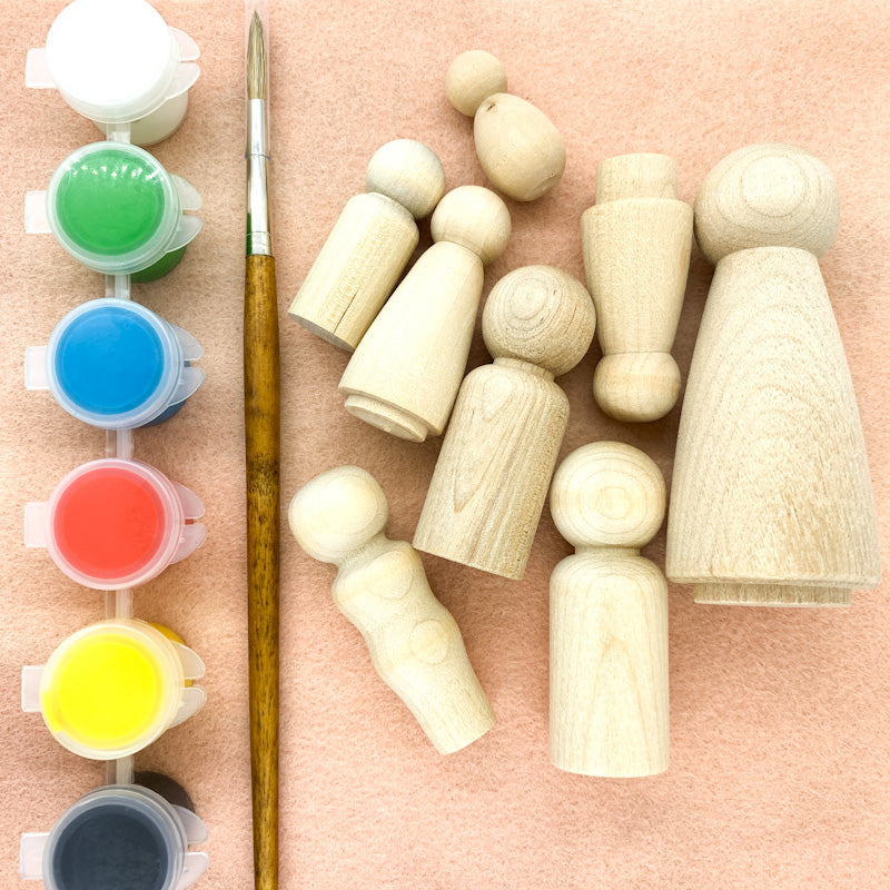 Paint-A-Peg-Doll Set