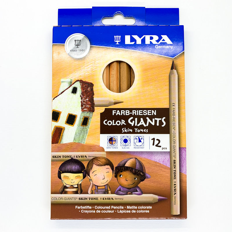 Lyra COLOUR GIANT Skin Tones Pencil Crayon Set
