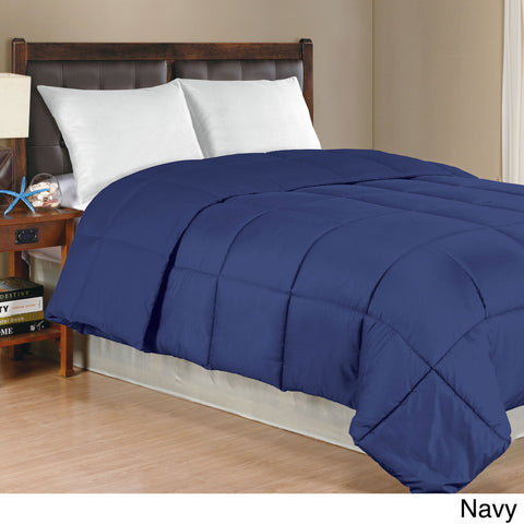 Down Alternative Comforter Navy