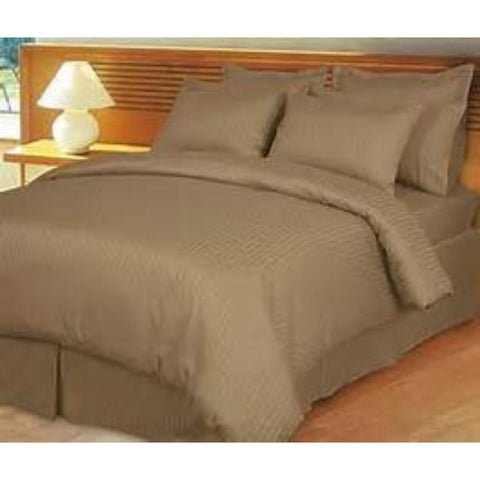 Patrick Michelle Taupe Sheets with corner straps - Linens Wholesale