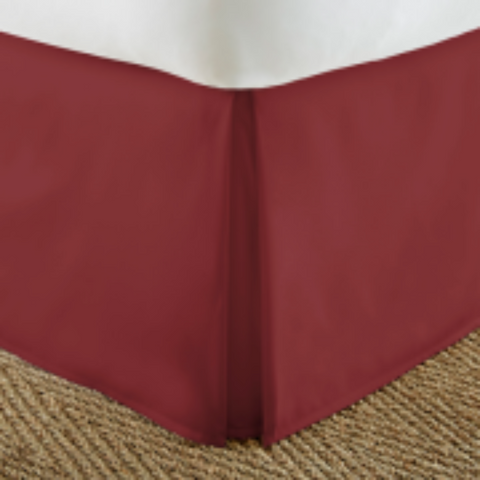 Bed Skirt Burgundy - Linens Wholesale
