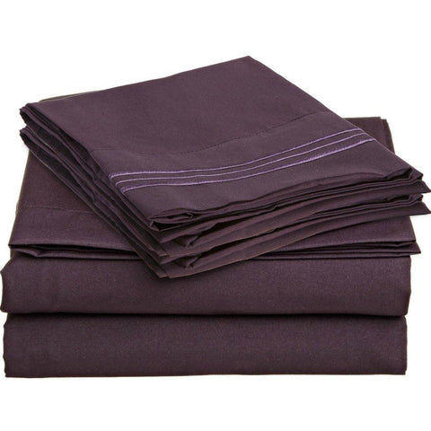 Rv/Short Queen Eggplant - Linens Wholesale