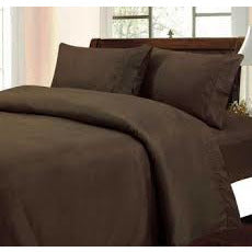 Patrick Michelle Chocolate Sheet Set with corner straps - Linens Wholesale
