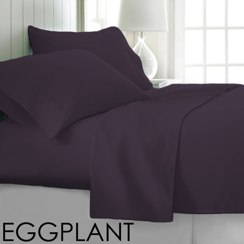 Patrick Michelle Eggplant Sheet Set with corner straps
