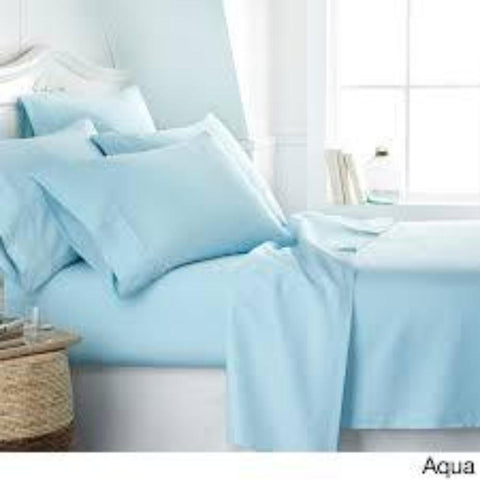 Patrick Michelle Auqa Sheet Sets with corner straps - Linens Wholesale