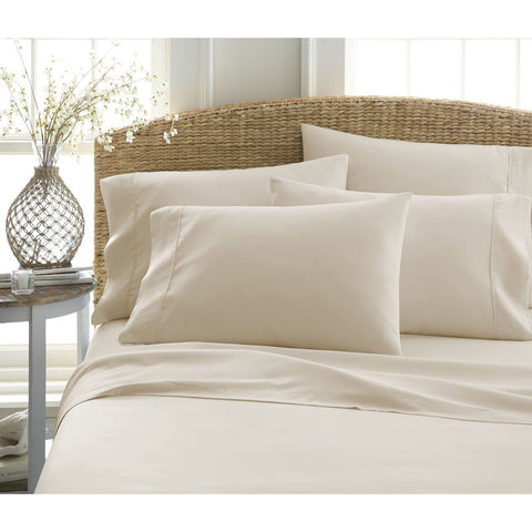 Patrick Michelle Beige Sheet Set with corner straps - Linens Wholesale
