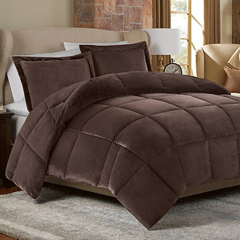 Down alternative comforter Chocolate - Linens Wholesale