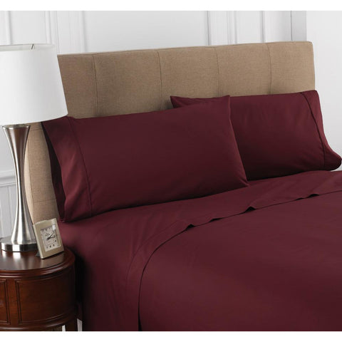 Patrick Michelle Cranberry Sheet Set with corner straps - Linens Wholesale