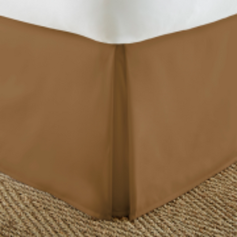 Bed Skirt Mocha - Linens Wholesale