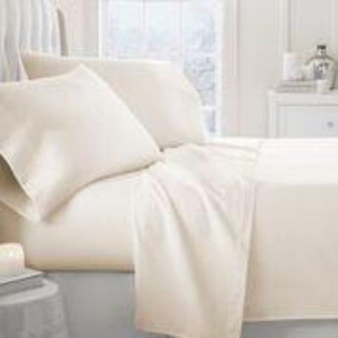 Flannel Sheets Ivory - Linens Wholesale
