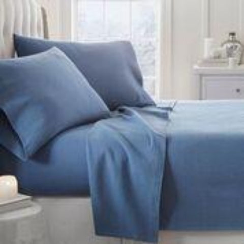 Flannel Sheets Lt. Navy - Linens Wholesale