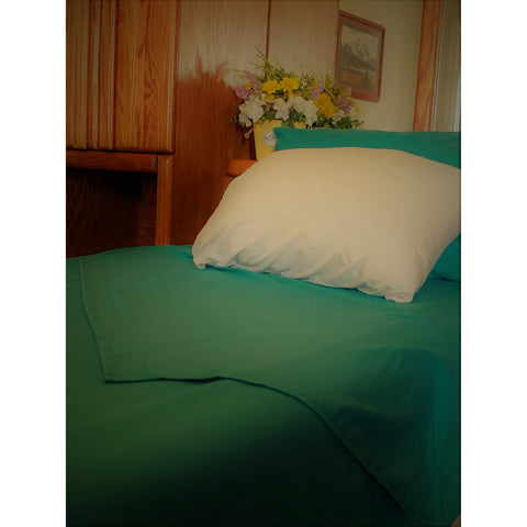 Patrick Michelle Teal Sheet Set with corner straps - Linens Wholesale