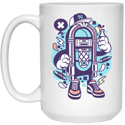 Juke Box 15 oz. White Mug