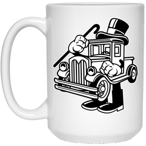 Old Truck 15 oz. White Mug