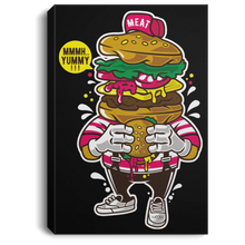 Load image into Gallery viewer, I Love Burger Portrait Canvas .75in Frame