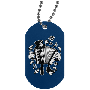 Accordion Silver Dog Tag