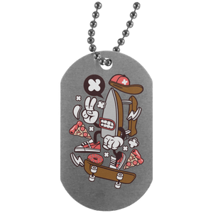 Dry Iron Silver Dog Tag
