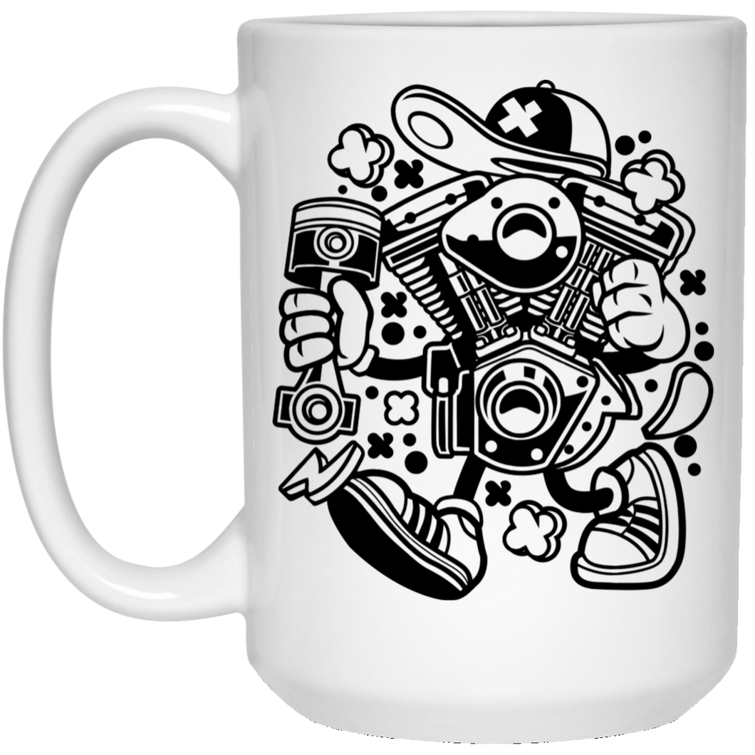 The Engine 15 oz. White Mug