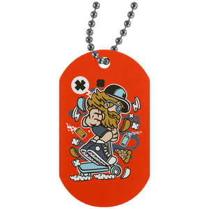 Go Ride Silver Dog Tag