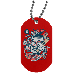 Coffee Bastard Silver Dog Tag
