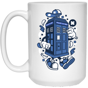 Police Box 15 oz. White Mug