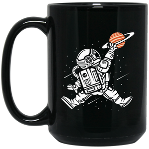Space Jump 15 oz. Black Mug