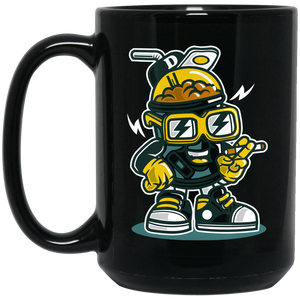 Let's Drink 15 oz. Black Mug