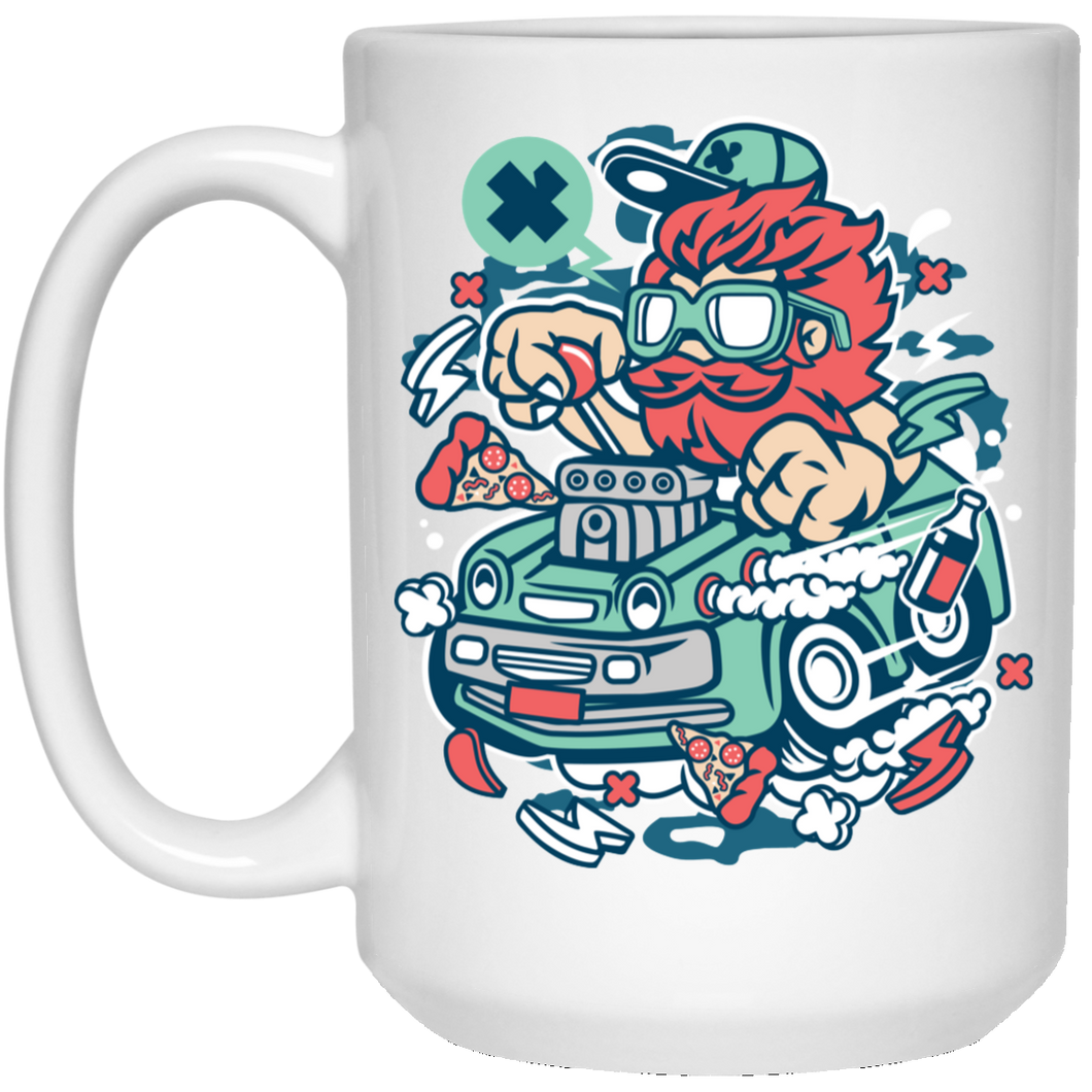 Smoking Hotrod 15 oz. White Mug