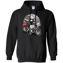 Load image into Gallery viewer, Caferacer Helmet Pullover Hoodie 8 oz.