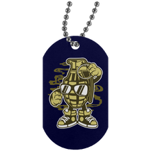 Load image into Gallery viewer, Grenade Silver Dog Tag