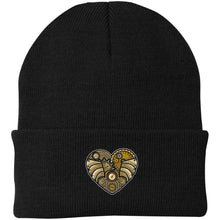 Load image into Gallery viewer, Steampunk Heart Knit Cap